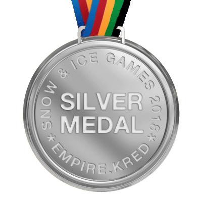 Snow & Ice Games 2018 Silver Medalist!